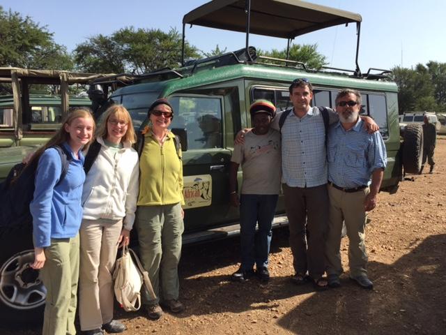 Tanzania safari guests with guide at Proud African Safaris